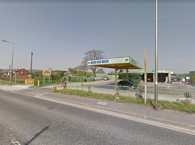 Former car wash site in Orrell is to be turned into a housing development. Image: Google