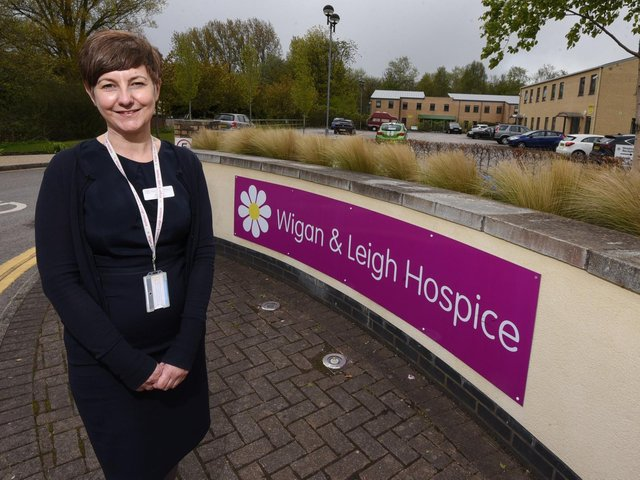 Wigan and Leigh Hospice chief executive Jo Carby