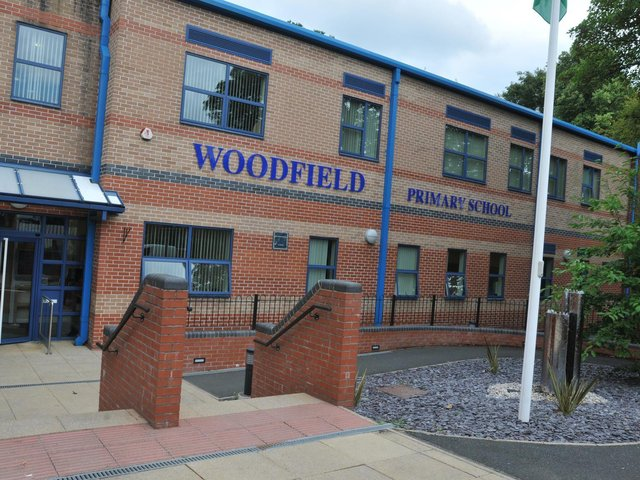 Fire crews were called to rescue a deer at Woodfield Primary School