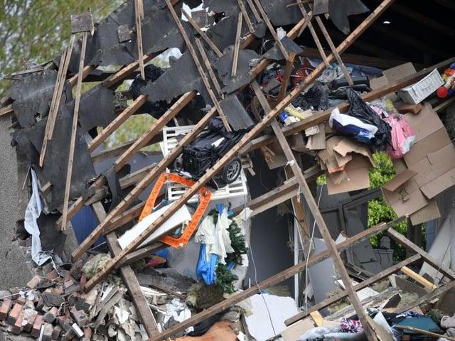 The scene of the explosion in Heysham
