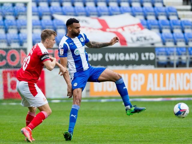 Curtis Tilt in action against Swindon