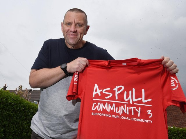 Dave Gibbons has set up fund-raising challenge Aspull Community 3