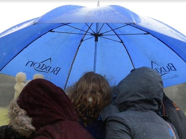 The borough has faced heavy rain