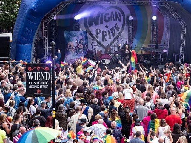 Happy scenes from a previous Pride event