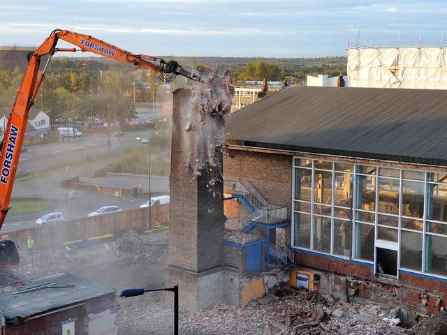 Wigan swimming pool is demolished