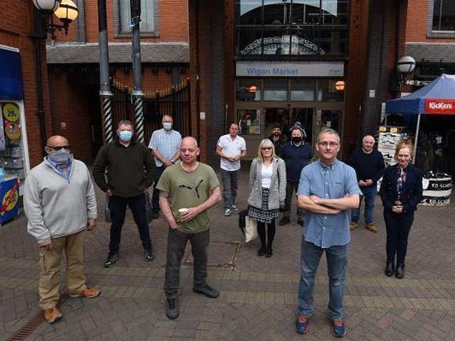 Wigan Market traders are unhappy about The Galleries plan