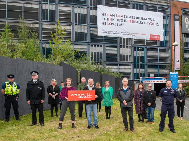 The campaign launch featuring representatives of the council, emergency services and victims or their families