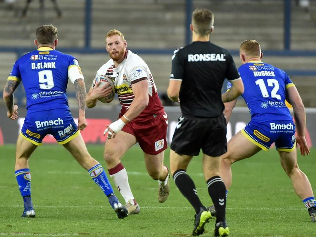 The prop joined Wigan from part-time outfit Barrow and is thought to be heading to the Wolves in 2022. (Photo: Bernard Platt)