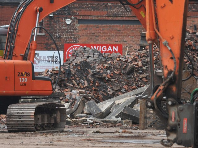 Only rubble remains of the 121-year-old boiler house