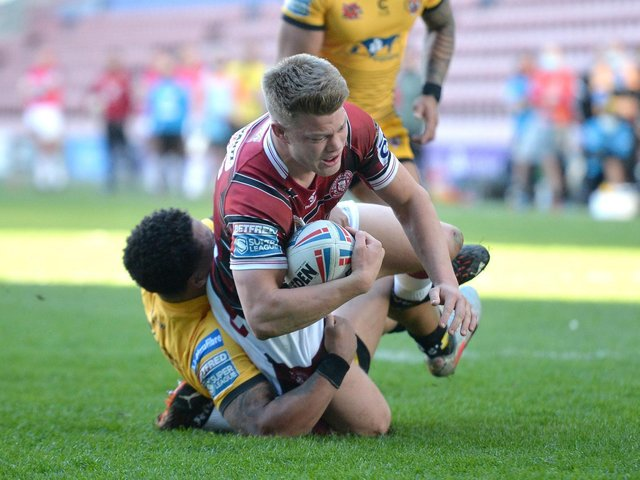 Morgan Smithies in action against Castleford