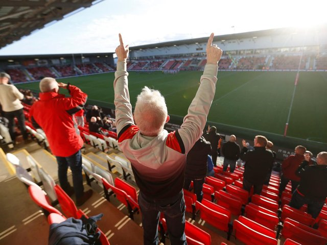 Wigan played in front of a small crowd of home fans at Leigh on Monday. Picture: SWPix