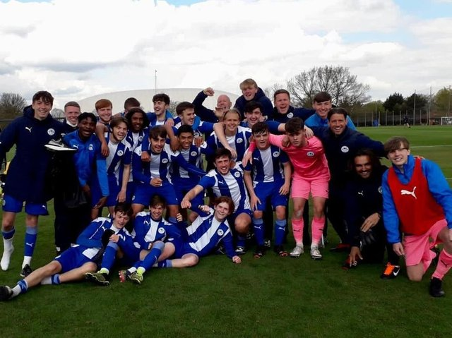 The all-conquering Latics Under-18 side