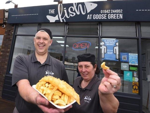 Barry Howard and Zoe Clarke from The Fish at Goose Green