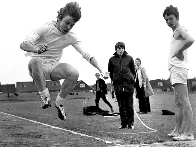 Wigan Grammar School annual summer sports day in 1971