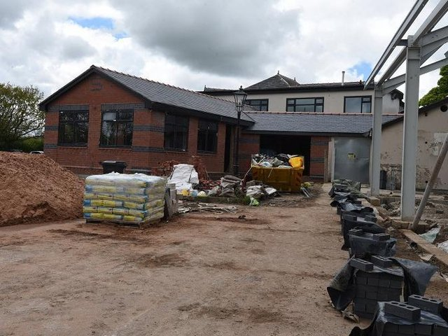 Work continues on the former Vale Royal pub, Gathurst Road, Orrell - which will become a hub of different businesses including an ice cream palour, computer games room and a fitness studio