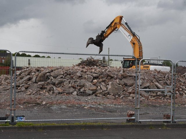 Bulldozers at work on the Labour club site in Scot Lane