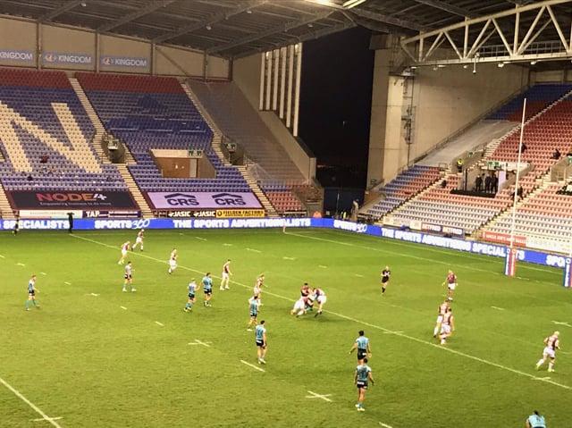 Wigan Warriors playing behind closed doors at the DW Stadium this season