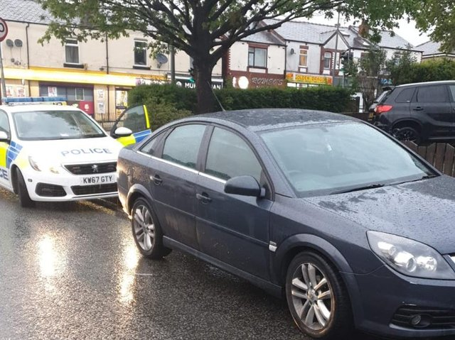 The car which was seized (Image: GMP)