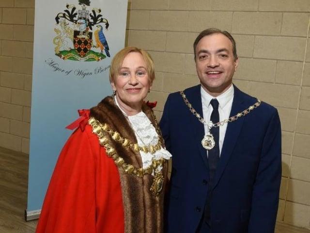 New Mayor Coun Yvonne Klieve with consort husband Mark