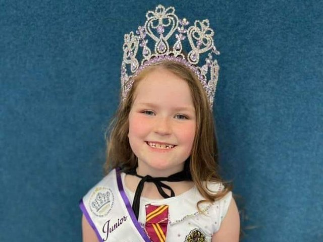 Erica Parkinson with her crown