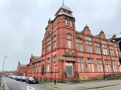 The former college building which is at the centre of a flats plan