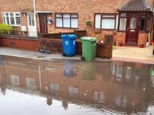 Sewage in Sycamore Avenue, Hindley Green