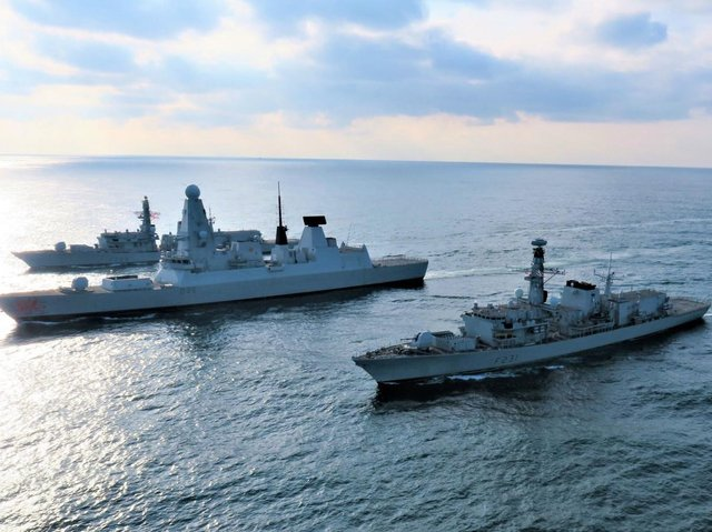 HMS Lancaster, HMS Dragon and HMS Argyll - the Royal Navy has used Artificial intelligence at sea for the first time - testing against supersonic missile threats