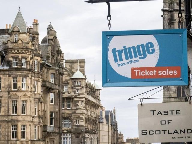 Edinburgh Fringe shop and ticket office on Edinburgh's Royal Mile
