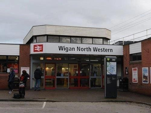 He was arrested at Wigan North Western