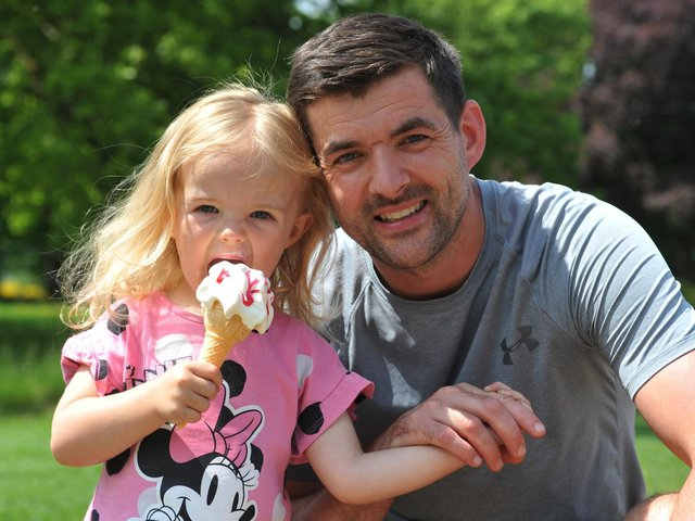 Mark Meadwell with daughter Layla, two.