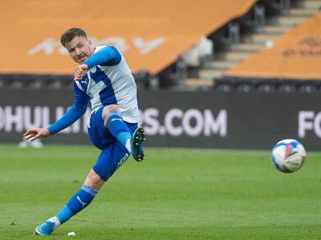 Lee Evans playing for Latics