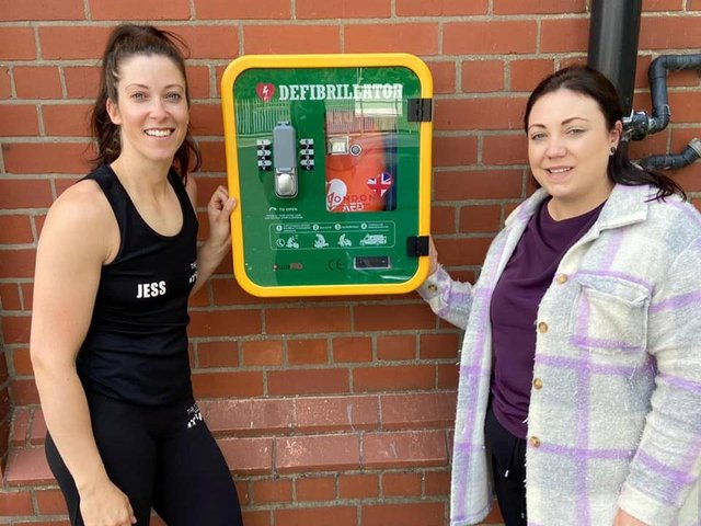 Jess Holt (left), who owns The Studio gym with Shana Selby, manager of the Little Owls nursery