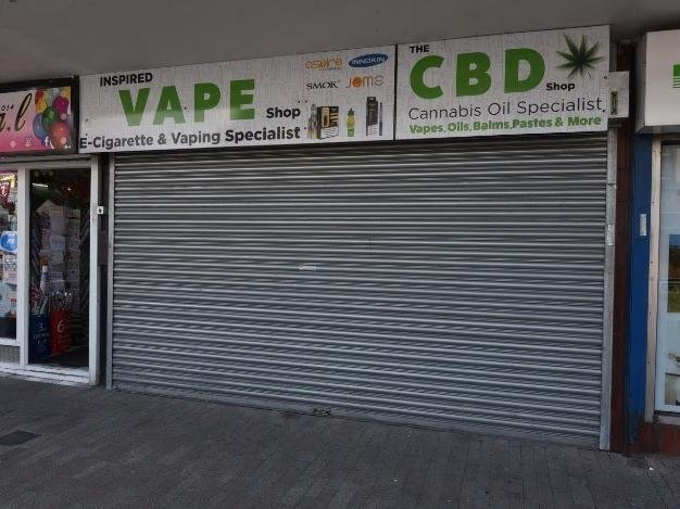 The vacant shop where there are plans for the private hire business