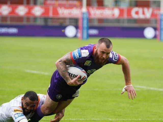 Jake Bibby in recent action against Catalans