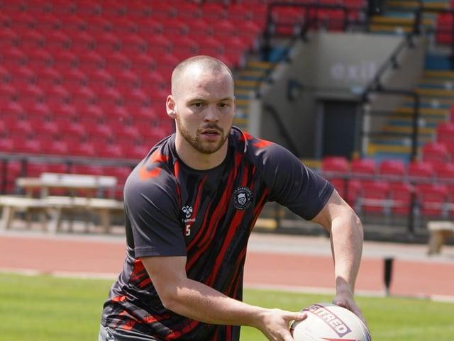 Liam Marshall in training