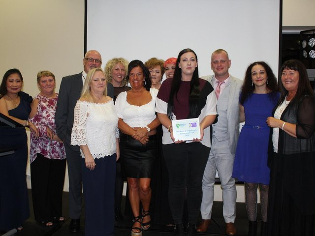 Staff from Richmond House at the Hospice in your Care Home Awards in 2019