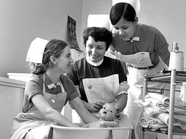 Wrightington Hospital student nurses in 1970