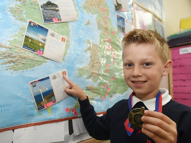 Pupils at Westfield Community School have strapped on their walking boots for a virtual trek across the country