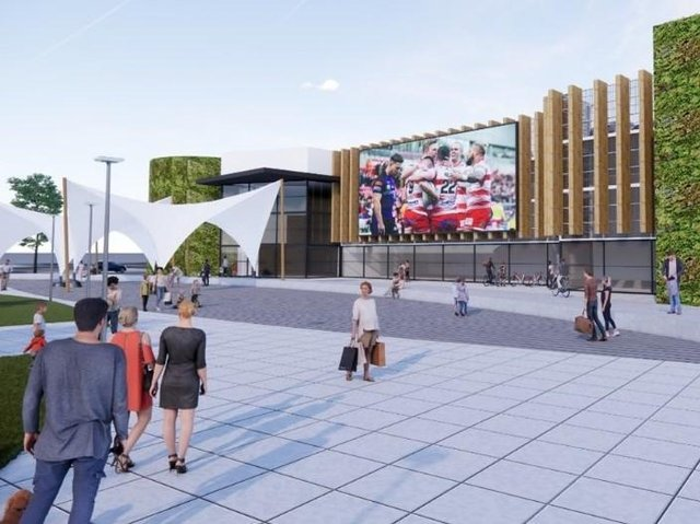 An artist's impression of a revamped Leigh town centre