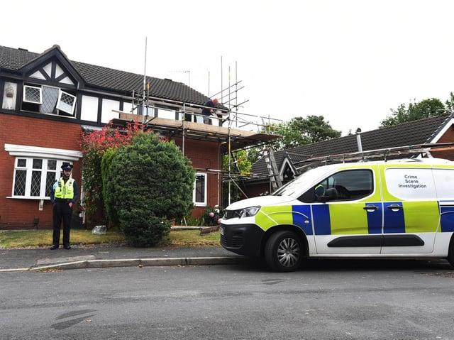 Police at the scene in St James Grove