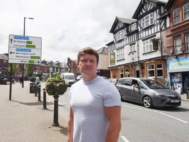Coun Danny Fletcher on Gerard Street