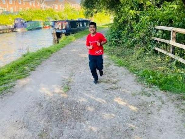 Dilan Patel out on a run to raise money for Save the Children