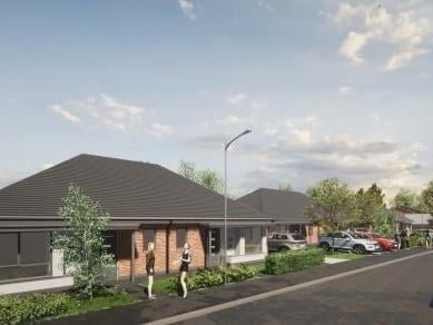 Artist's impression of how the new homes and surrounding land will look