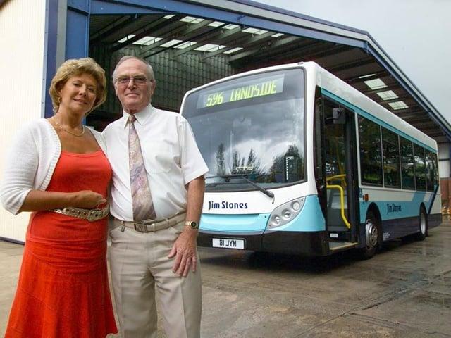 Jim and Joan Stones at the depot