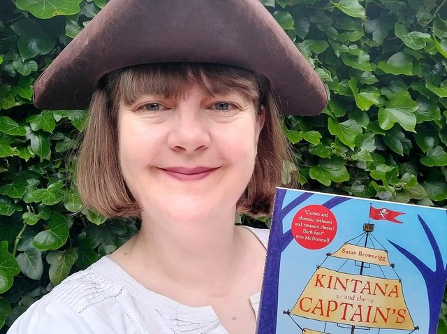 Susan Brownrigg with her new book for children