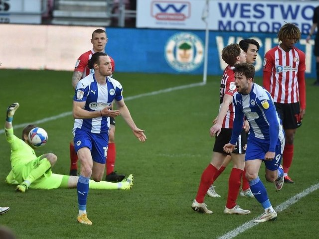 Max Power can only watch on as Latics beat Sunderland 2-1 at the end of last term