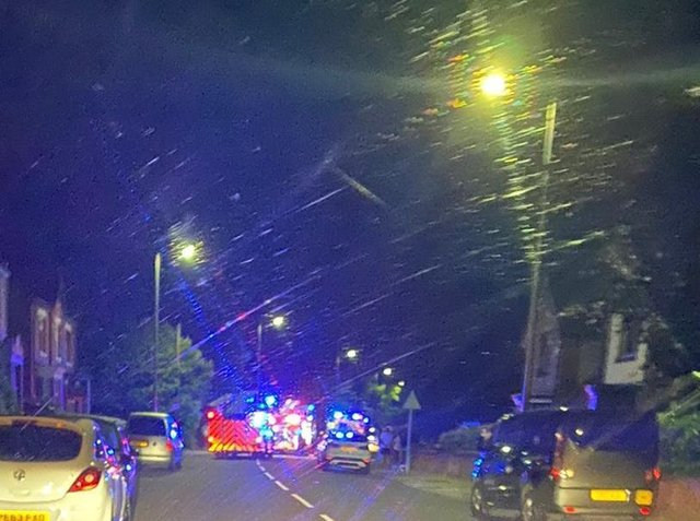 Emergency services on Orrell Road
