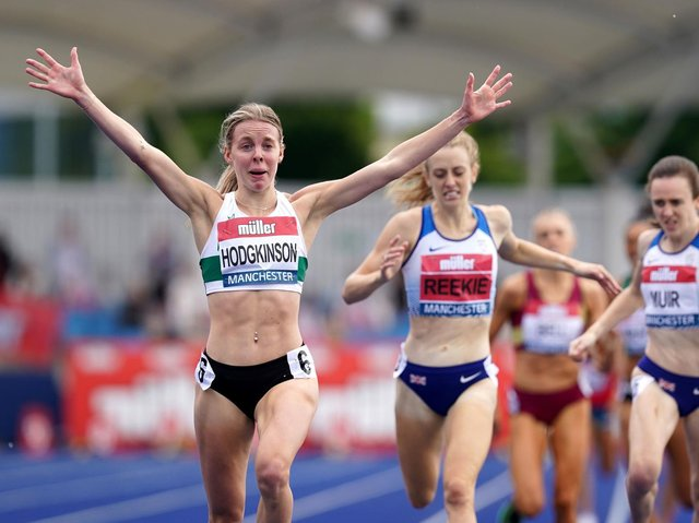 Success for Keely Hodgkinson
