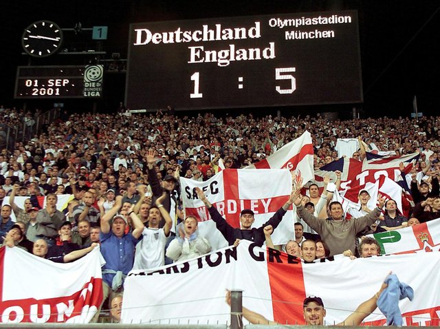 A night to remember for England fans back in 2001