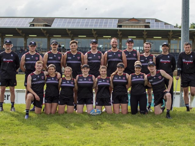 The Wigan Touch Warriors team at Banbury